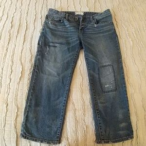 Free People carpenter crop jeans